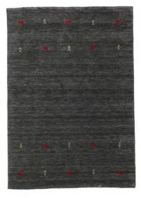 Gabbeh Loom Two Lines - Secundário Tapete 140X200 Moderno Preto/Bege (Lã, Índia)