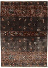 Shabargan Tapete 127X186 Moderno Feito A Mão Preto/Castanho Escuro (Lã, Afeganistão)