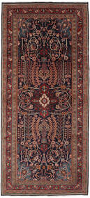 Mahal Tapete 133X300 Oriental Feito A Mão Tapete Passadeira Preto/Castanho Escuro (Lã, Pérsia/Irão)