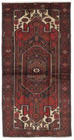Hamadã Tapete 107X207 Oriental Feito A Mão Preto/Castanho Escuro (Lã, Pérsia/Irão)