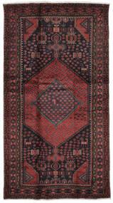 Hamadã Tapete 104X200 Oriental Feito A Mão Preto/Castanho Escuro (Lã, Pérsia/Irão)