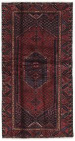 Hamadã Tapete 104X197 Oriental Feito A Mão Preto/Castanho Escuro (Lã, Pérsia/Irão)
