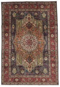 Tabriz Tapete 208X297 Oriental Feito A Mão Castanho Escuro/Preto (Lã, Pérsia/Irão)