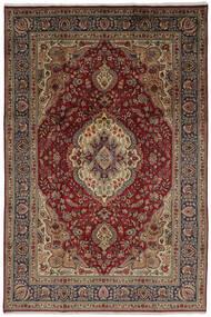 Tabriz Tapete 206X304 Oriental Feito A Mão Castanho Escuro/Preto (Lã, Pérsia/Irão)