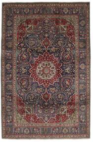 Tabriz Tapete 210X310 Oriental Feito A Mão Preto/Castanho Escuro (Lã, Pérsia/Irão)