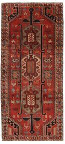Ardabil Tapete 140X308 Oriental Feito A Mão Tapete Passadeira Preto/Vermelho Escuro (Lã, Pérsia/Irão)