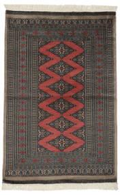 Paquistão Bucara 2Ply Tapete 94X140 Oriental Feito A Mão Preto/Cinza Escuro (Lã, Paquistão)