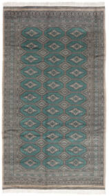 Paquistão Bucara 3Ply Tapete 152X272 Oriental Feito A Mão Cinza Escuro/Preto (Lã, Paquistão)