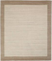 Handloom Frame - Natural/Sand Tapete 250X300 Moderno Castanho Claro/Cinzento Claro/Castanho Escuro Grande (Lã, Índia)