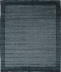 Handloom Frame - Petrol Azul Tapete 250X300 Moderno Preto/Azul Escuro Grande (Lã, Índia)