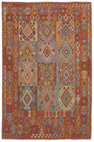 Kilim Afegão Old Style Tapete 202X302 Oriental Tecidos À Mão Castanho Escuro (Lã, Afeganistão)
