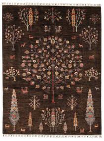 Mamluk Tapete 158X205 Moderno Feito A Mão Preto/Castanho Escuro (Lã, Afeganistão)