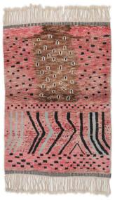 Berber Moroccan - Mid Atlas Tapete 126X185 Moderno Feito A Mão Vermelho Escuro/Castanho Escuro (Lã, Marrocos)
