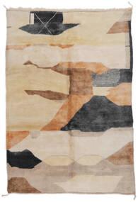 Berber Moroccan - Mid Atlas Tapete 203X296 Moderno Feito A Mão Castanho Claro/Castanho (Lã, Marrocos)