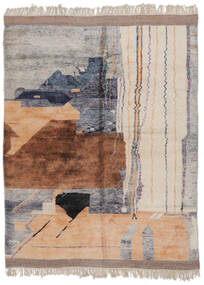 Berber Moroccan - Mid Atlas Tapete 253X321 Moderno Feito A Mão Castanho/Cinza Escuro Grande (Lã, Marrocos)