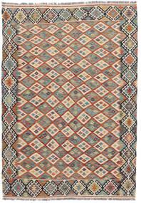 Kilim Afegão Old Style Tapete 172X246 Oriental Tecidos À Mão Cinza Escuro/Castanho Escuro (Lã, Afeganistão)