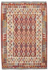 Kilim Afegão Old Style Tapete 170X247 Oriental Tecidos À Mão Castanho Escuro/Vermelho Escuro (Lã, Afeganistão)